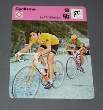 FICHE CYCLISME 1972 EDDY MERCKX MOLTENI GUIMARD TOUR FRANCE WIELRIJDER CICLISMO