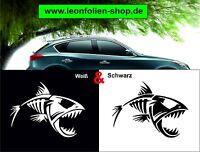 Skelett Fisch Auto Aufkleber – Auto Tattoo – Wand Tattoo 15x8,5 cm