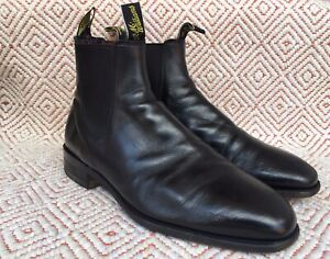 RM Williams Craftman Chelsea Boot Black Leather Size UK 11 H || US 12