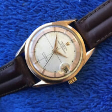 VINTAGE UNIVERSAL (GOLD PLATED) POLEROUTER/MICROTOR(AUTOMATIC)CALIBER 215-1