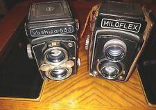 Yashica Camera 635 Yashikor 1:3.5 f=80mm and Miloflex Camera both in good shape