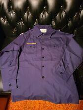 Poplin Boy Scout navy blue Cub Scout shirt LARGE official New uniform Webelos