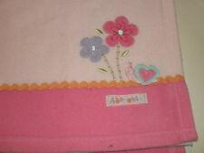 Carter's Child of Mine ADORABLE Pink Rick Rack FLOWERS SNAIL Heart BABY BLANKET