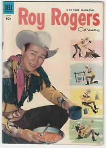 Roy Rogers Comics #75 VF+ 8.5 Dell Western Frontier 1954