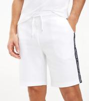 Tommy Hilfiger Mens Lounge Tape Jersey Tracksuit Short Short Hwk White M L XL