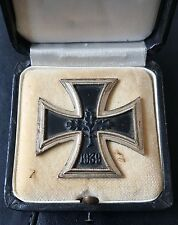 ✚7490✚ German Iron Cross First Class medal post WW2 1957 pattern CASED ST&L