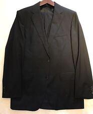 "$2450 Hugo Boss Selection Men's Black Suit 40R Jacket Trouser 34"" Waist Tailored"