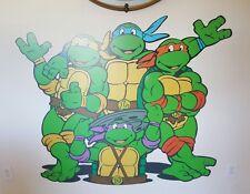 """New Giant Teenage Mutant Ninja Turtles TMNT Vintage Turtles 48"""" Tall Wall Decal"""
