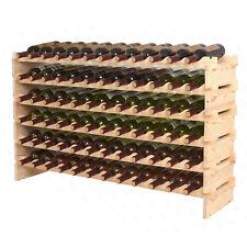 Stackable Wine Rack Storage 72 Bottles, Cellar Display Shelves, WN84