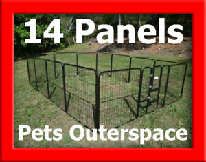 14 X Super Large Galvanized Exercise Pen Dog Run Puppy Portable Enclosure Kennel