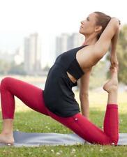 Rare LULULEMON Warrior Pant Size 10 Red Side Pocket Wunder Under Yoga Leggings