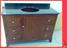 Antique Bathroom Vanity Aldrec1200 Walnut Cabinet Marble or Granite Top