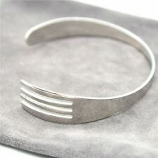 Creative 3 Color Fork Cuff Bracelets Bangles Fashion Design Open Bangle Jewelry
