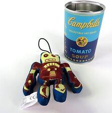 Kidrobot Andy Warhol Soup Can Series Plush Robot New