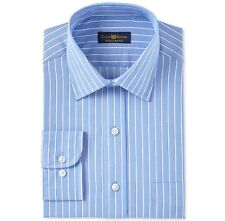 Club Room Mens Wrinkle Resistant Button up Dress Shirt 16 1/2 Neck 32-33 Sleeve