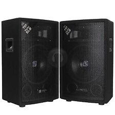 "Pair 8"" Bedroom DJ PA Party Disco Passive Speakers 800 Watt Max UK Stock"