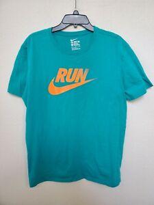Nike Run South Beach Gradient Colorway Teal/Orange Mens Sz XL Pre-owned Athletic
