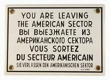 Emailleschild SIE VERLASSEN DEN AMERIKANISCHEN SEKTOR Schild Berlin Emaile NEU