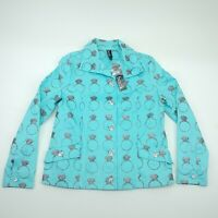 Berek Womens Blue Long Sleeves Ring Bling Jacket Size S