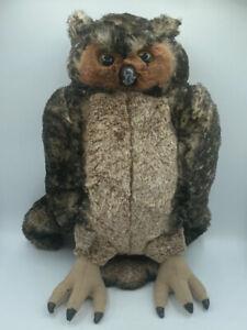 "Owl Bird 17"" Plush Toy Stuffed Animal Soft Doll Melissa and Doug Large Realistic"