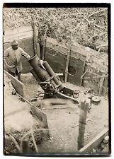 Photo - Guerre 14/18 - WW1 - Canon - Tirage argentique d'époque -