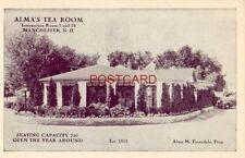 ALMA'S TEA ROOM Est. 1923 MANCHESTER, N. H. Alma M Truesdale, Prop.