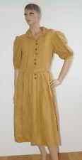 Kleid Dirndl Landhaus Leinenkleid Leinen gelb Tracht Größe 38 (1601A-2)