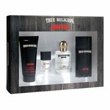 True Religion Drifter Men EDT Spray 1.0 oz + Mini + Deo + Gel - New in Worn Box