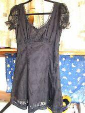 Royal Bones DAANG Goodman Black Dress Lolita Goth Emo Punk Small S XS