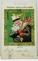 Christmas IRELAND National Santa Claus Serie 1907 Dubuque to Chicago Postcard J7