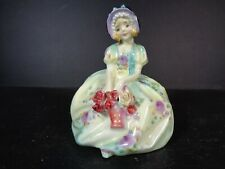 More details for early royal doulton figurine monica hn1458 green potted by doultons