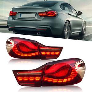 For 2014-2020 BMW 4 Series M4 F32 F33 F36 F82 F83 RED SMOKE Lens LED Taillights