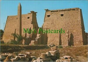 Egypt Postcard - Luxor Temple - Great Pylon and Obelisk of Ramses II - RRR1116