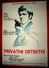 LONG GOODBYE 1973 ROBERT ALTMAN ELLIOTT GOULD STERLING HAYDEN EXYU MOVIE POSTER