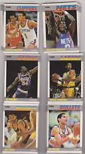 MANY LISTED 1987-88 Fleer basketball commons STRAIGHT OUT OF PACK MINT