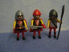 3 rote Drachenritter  Ritter Figuren mit Waffen zu 4865Ritterburg Playmobil 4274