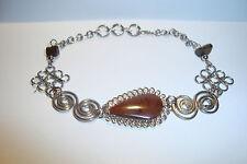 Peruvian Alpaca Silver & Mahogany Obsidian,Gemstone Bracelet~P10~uk seller