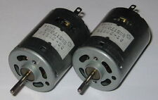 2 X Mabuchi RS-385SH Motors - Knurled Shaft - 12V DC - 12500 RPM - Hobby Motors