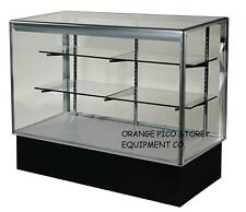 Brand New 4' Aluminum Frame Glass Display Show case - Bellisimo