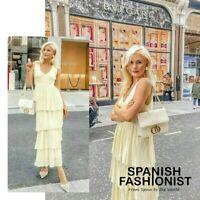 Abito camicia di raso Zara XS Nuovo con etichette | eBay