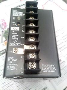 1pc Used Good Nemic Lambda PS-11-24 Power Supply #E-L0  GY