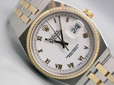 Men Rolex DateJust 18k Yellow Gold Steel Oysterquartz Watch 17013