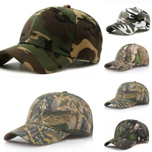Mens Womens Camouflage Baseball Cap Army Hat Camo Military Fishing Leisure Cap