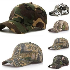 Mens Womens Camouflage Baseball Cap Army Hat Camo Military Fishing Leisure Cap