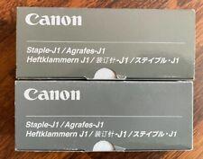NEW (2 Pack) Genuine Canon Staples J1 Staples FREE SHIPPING
