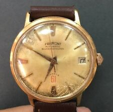 Vintage Swiss FRAMONT Roamer WATCH AUTOMATIC GOLD DIAL ROSE Gold Plated