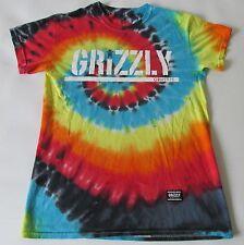 Grizzly Griptape Men's Short Sleeve Shirt Tie Dye SM