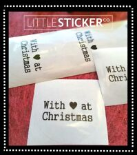 Christmas Sticker Labels Designer Christmas card Envelope Seals CLEAR  x 100