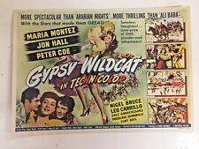Vintage 1944 Movie Herald GYPSY WILDCAT Maria Montez Jon Hall Peter Coe Tameless