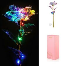 Women Gift 10 LED Lighted Artificial Rose Flower for Mothers Day Valentines